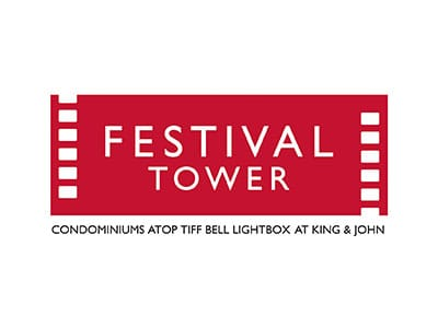 Festival Tower Condominiums atop Tiff Bell Lightbox at King and John